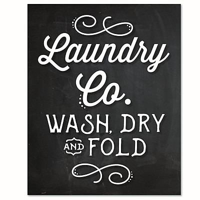 Love You A Latte Shop 'Laundry Co. Wash Dry Fold' Textual Art Print on Paper