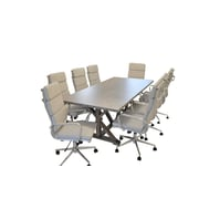 SolisPatio Armis 7' Table w/ Chairs 9 Piece Conference Set