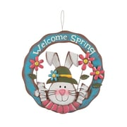 Glitzhome Welcome Spring 14.57'' Iron Wreath