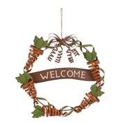 Glitzhome Welcome Spring 15.16'' Iron Wreath