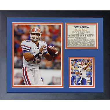 Legends Never Die Tim Tebow - Gators Away Framed Memorabilia
