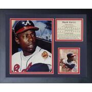 Legends Never Die Hank Aaron - Atlanta Braves Framed Memorabilia