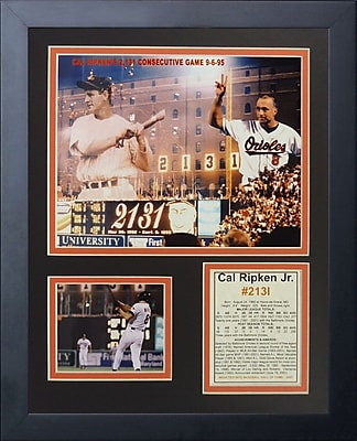 Legends Never Die Cal Ripken #2131 Framed Memorabilia