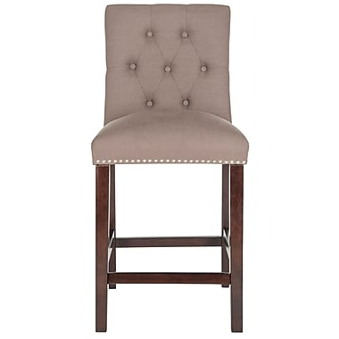 Darby Home Co Gowans 27.5'' Bar Stool (Set of 2); Dark Taupe