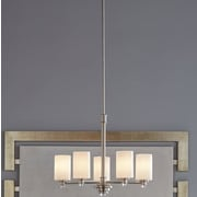Darby Home Co Bourdeau 5-Light Shaded Chandelier; Brushed Nickel