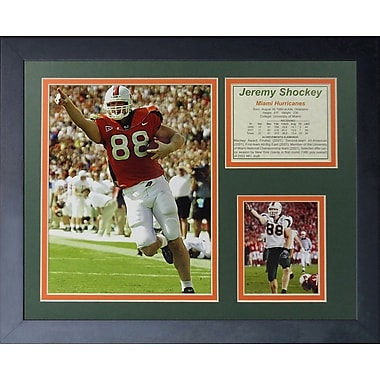 Legends Never Die Jeremy Shockey - Miami Hurricanes Framed Photographic Print