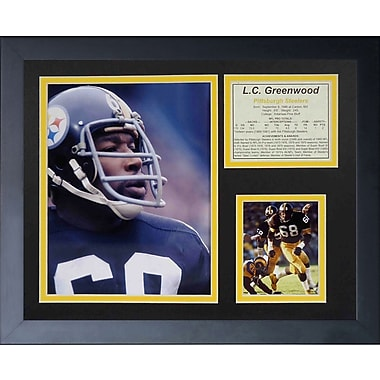 Legends Never Die L.C. Greenwood Framed Memorabilia