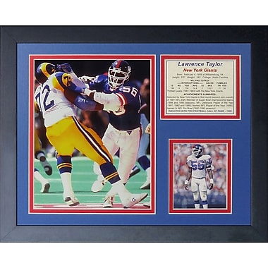 Legends Never Die Lawrence Taylor Framed Memorabilia