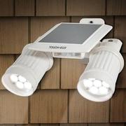 Touch of ECO Twinspot Pro Solar 14-Light LED Outdoor Spotlight; White