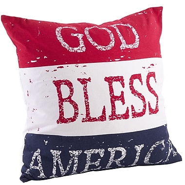 Saro Star Spangled Cotton Throw Pillow
