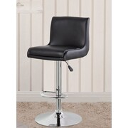 United Chair Industries LLC Adjustable Height Swivel Bar Stool w/ Cushion; Black