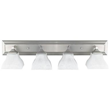 Luminance 4x Medium Base Vanity, Satin Nickel, (F3644-80)