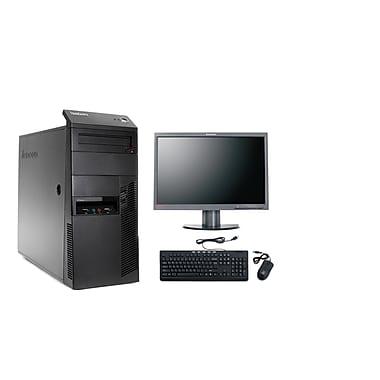 Lenovo-PC de table ThinkCentre M91 remis à neuf et moniteur ACL 22 po, 3,1GHz Intel Core i3-2100, DD 1To, 8 Go RAM, Win10 Pro