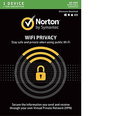 Norton – Logiciel RPV WiFi Privacy, protection de 1 an, 1 dispositif [téléchargement]