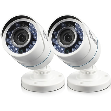 Swann Security In a Box All-Weather 720p HD Add-On Security Cameras, White, 2/Pack (SWPRO-HDCAMPK2)