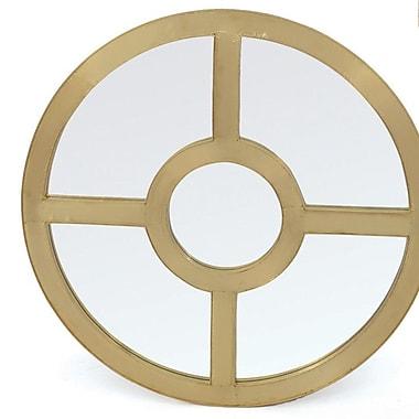 Corrigan Studio Gold Patina Wood Bedford Mirror