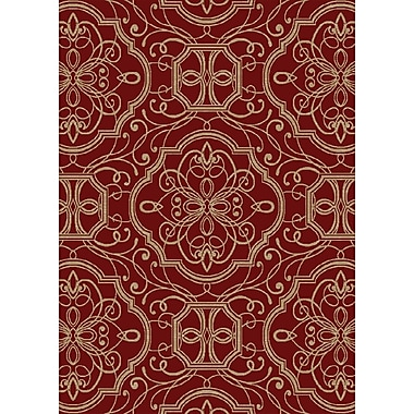 Darby Home Co Eula Claret Area Rug; 5' x 8'