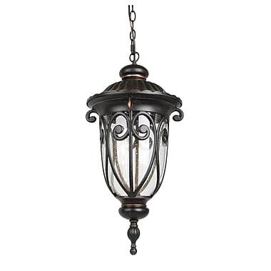 Living District 1-Light LED Outdoor Hanging Lantern; 84.9'' H x 11.3'' W x 11.3'' D