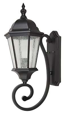Living District 1-Light LED Outdoor Wall Lantern; 24.5'' H x 8'' W x 12.3'' D