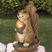 Zingz & Thingz Squirrel Solar Statue
