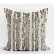 G Home Collection Luxury Stripe Pattern Metallic Chenille Throw Pillow