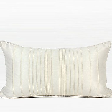 G Home Collection Luxury Striped Textured Down Feather Insert Lumbar Pillow