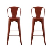 Ace Casual Furniture Carlisle 29'' Bar Stool (Set of 2); Red