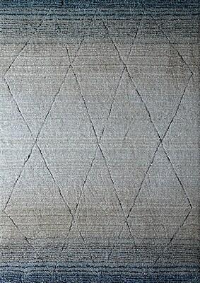 Rug Factory Plus Hand-Tufted Blue/Beige Area Rug