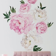 SimpleShapes Peony Flowers Wall Decal; Vivid Pink