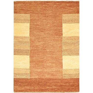 ECARPETGALLERY Ziegler Chobi Finest Wool Hand-Knotted Brown/Light Yellow Area Rug