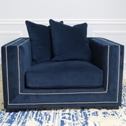 Pasargad Cooper Velvet Arm Chair