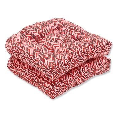 Pillow Perfect Herringbone Rocking Chair Cushion (Set of 2)