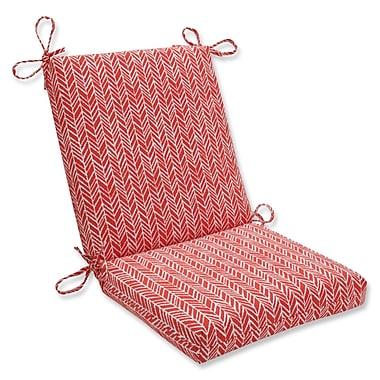 Pillow Perfect Herringbone Dining Chair Cushion