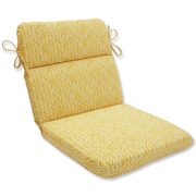 Pillow Perfect Herringbone Outdoor Dining Chair Cushion
