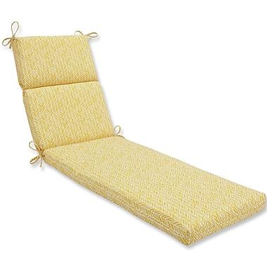 Pillow Perfect Herringbone Outdoor Chaise Lounge Cushion