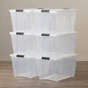 Rebrilliant 6 Piece Stack and Pull Modular Latch Box (Set of 6)
