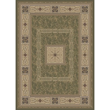 Darby Home Co Raneal Ancient Empire Green Area Rug; 8' x 10'