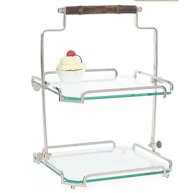 Darby Home Co Ardi Two Tier Bamboo Handle Stand