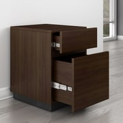 Brayden Studio Ulster 2-Drawer Vertical File; Walnut