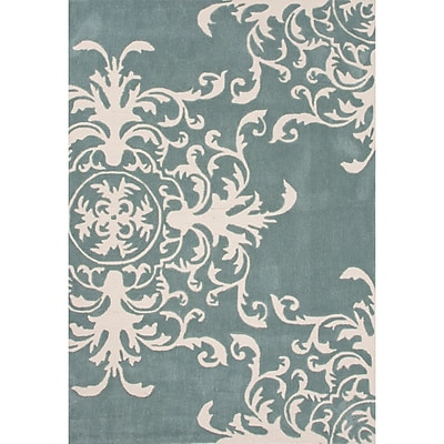 Charlton Home Norton Polyester Blue Hand Tufted Area Rug; 2' x 3'