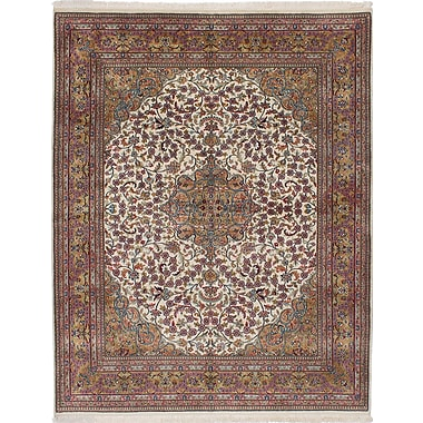 ECARPETGALLERY Jamshidpour Hand-Knotted Beige/Red Area Rug