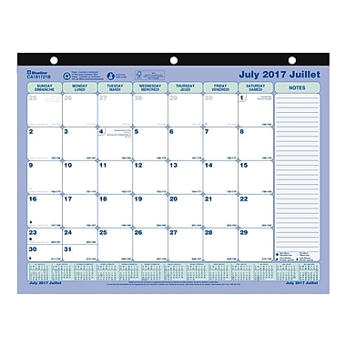 Blueline® 2017-2018 Academic Monthly Desk Pad Calendar