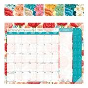 Blueline® - Calendrier scolaire sous-main mensuel 16 mois 2017/2018, 22 po x 17 po, bilingue, motif Mandala