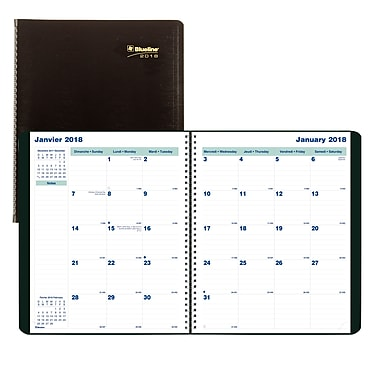 Blueline® 2017/2018 Monthly Planner, 11