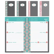 "Blueline® 2017/2018 Academic Weekly Planner, 8"" x 5"", Bilingual, Assorted Coaastal Cover Designs"