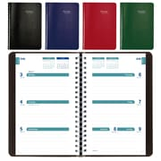 "Blueline® 2017/2018 Academic Weekly Planner, 8"" x 5"", Assorted Soft Vicuana Covers, English"