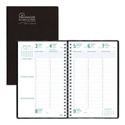"Blueline® 2017/2018 Timanager® Planifi-Action® Academic Weekly Appointment Planner, 9-1/16"" x 5-7/8"", Bilingual, Black"