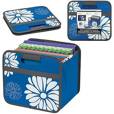 Bac escamotable simple, bleu avec fleurs (1025606100000)