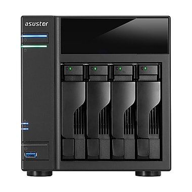 ASUSTOR AS61 4-Bay Small Office Diskless Network Attached Storage, 1.6 GHz Dual-Core Intel Celeron Processor (AS6104T)