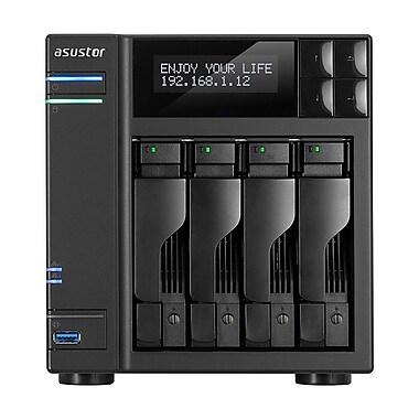 ASUSTOR – Serveur de stockage en réseau de bureau moyen sans disque AS62, 4 baies, Intel Celeron quadricoeur 1,6 GHz (AS6204T)